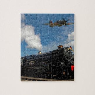 Hurricanes and steam train jigsaw puzzle