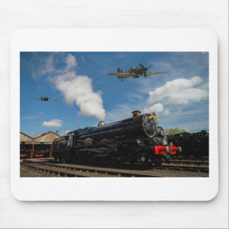Hurricanes and steam train mouse pad