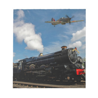 Hurricanes and steam train notepad