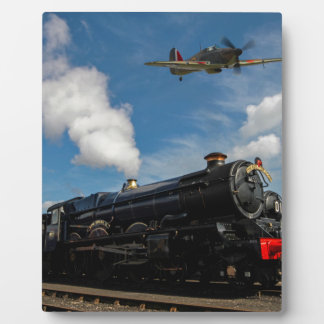 Hurricanes and steam train plaque