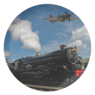 Hurricanes and steam train plate