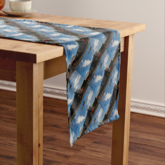 Hurricanes and steam train short table runner