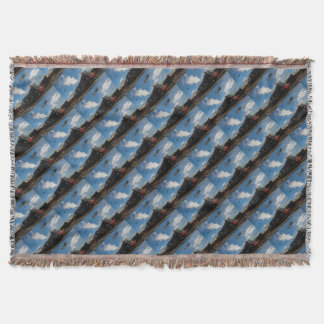 Hurricanes and steam train throw blanket