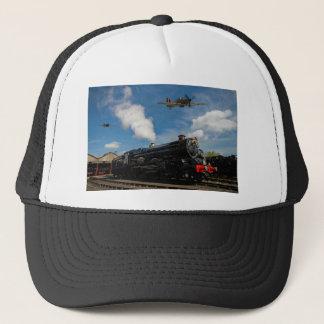 Hurricanes and steam train trucker hat