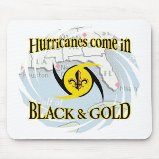 Hurricanes in Black & Gold Mouse Pad