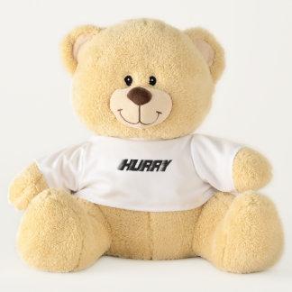 Hurry!  Curling Teddy Bear