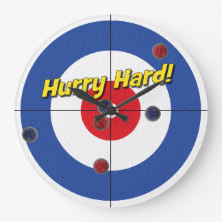 """Hurry Hard!"" Curler's Clock - (Blue)"
