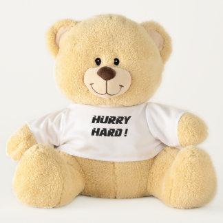 Hurry Hard!  Curling Teddy Bear