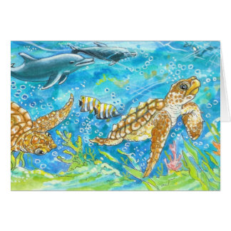 HURRY    Seaturtles by Diana S Martin Card