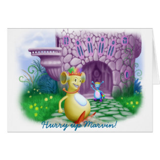 Hurry up Marvin! Greeting Card