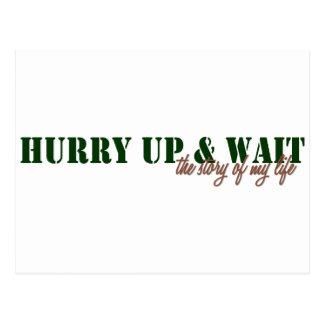 Hurry Up & Wait Postcard
