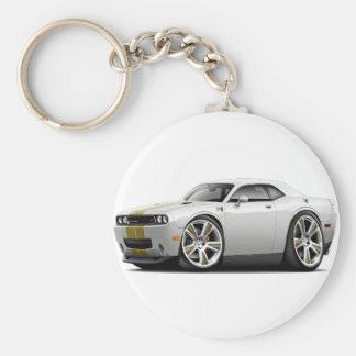 Hurst Challenger White-Gold Car Keychain