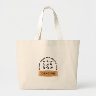 hurt better then dancing large tote bag