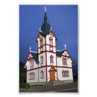 Husavik Lutheran Church, Iceland. Photo Print