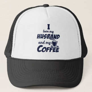 Husband and coffee trucker hat