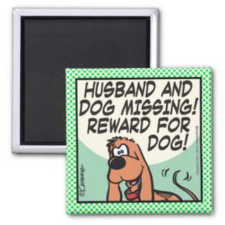 Husband and Dog Magnet