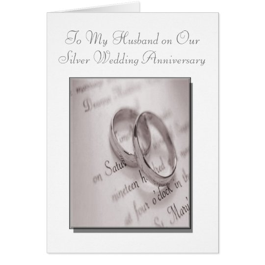 Silver Wedding Anniversary Gift Ideas For Husband: Husband And Wife Silver Wedding Anniversary Card