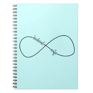 Husband and Wife Wedding and Anniversary Infinity Spiral Notebook
