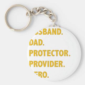 Husband, Dad Keychain