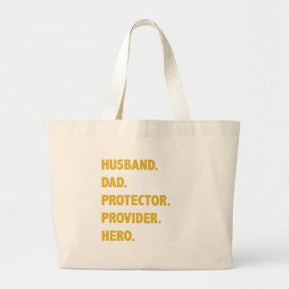 Husband, Dad Large Tote Bag