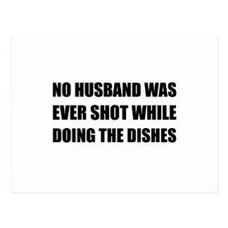 Husband Doing Dishes Postcard