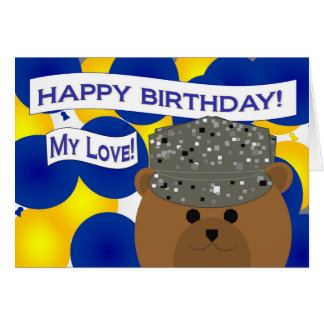 Husband - Happy Birthday Active Duty Air Force! Greeting Card