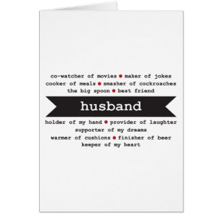 Husband Happy Birthday Card // Adjectives describe