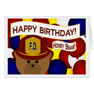 Husband - Happy Birthday Firefighter Hero! Greeting Card