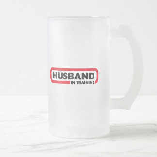 Husband in Training - Fun Valentine's Day Gift 16 Oz Frosted Glass Beer Mug