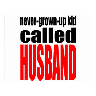 husband marriage joke kid newlywed reality quote j postcard