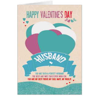 Husband, Modern Valentine's Greeting Card