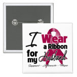Husband - Multiple Myeloma Ribbon 2 Inch Square Button