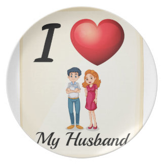 Husband Party Plates