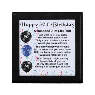 Husband Poem - 50th Birthday Gift Box