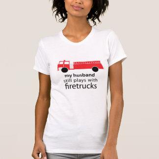 Husband Still Plays with Firetrucks Shirt