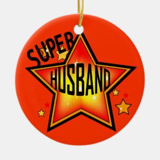 Husband Super Star Christmas Ornament