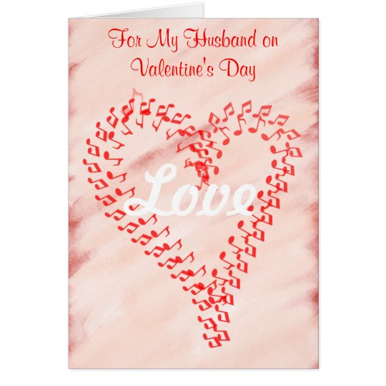 Husband Valentine's Day Red Hearts Greeting Card