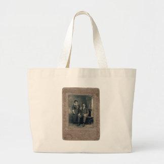 husband&wife large tote bag