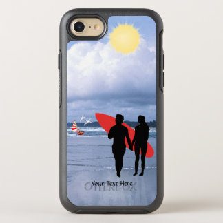 Husband & Wife Silhouette Let's Go Surfing Version OtterBox Symmetry iPhone 7 Case