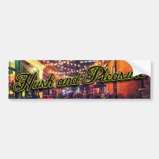 Hush and Pleasure stickers