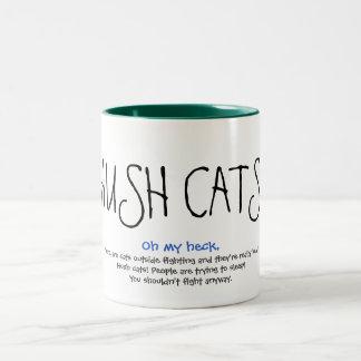 HUSH CATS! The mug! Two-Tone Coffee Mug