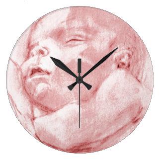 Hushbaby, Baby Girl, New, Round Wall Clock