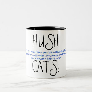 HUSHCATS! Ver. 3 Two-Tone Coffee Mug