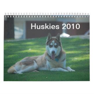 Huskies 2010 calendar