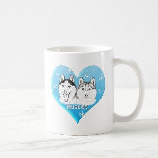 Huskies Blue Coffee Mug