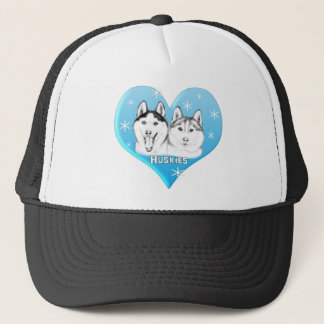 Huskies Blue Trucker Hat