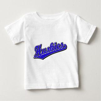 Huskies in Blue Baby T-Shirt