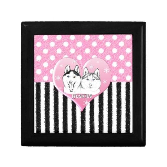 Huskies pink pattern gift box