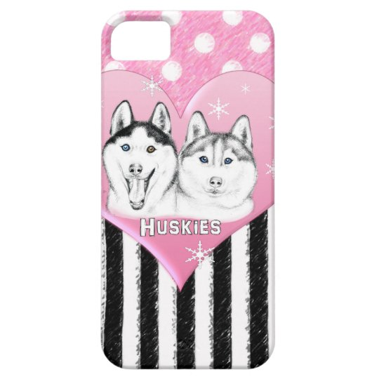 Huskies pink pattern iPhone 5 cover