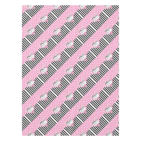 Huskies pink pattern tablecloth
